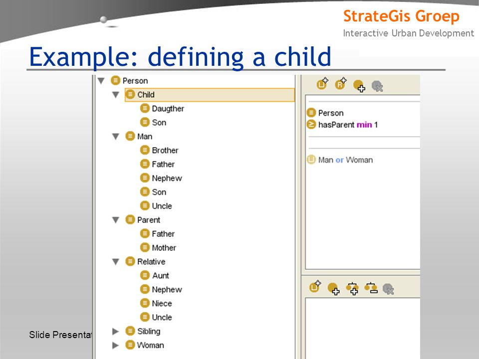StrateGis Groep Interactive Urban Development Slide Presentation Title Example: defining a child