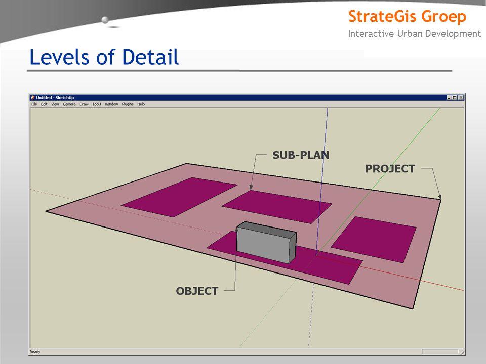 StrateGis Groep Interactive Urban Development Levels of Detail