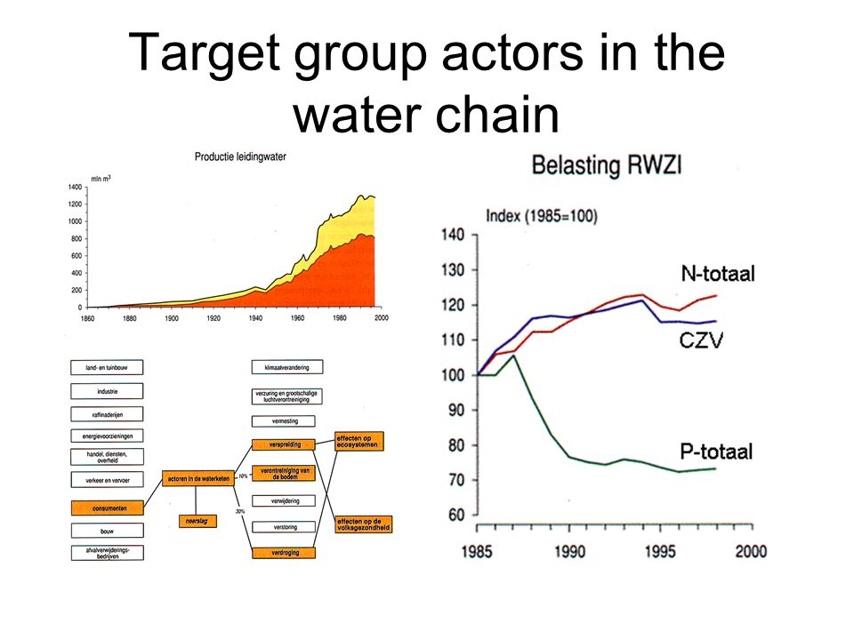 Target group actors in the water chain