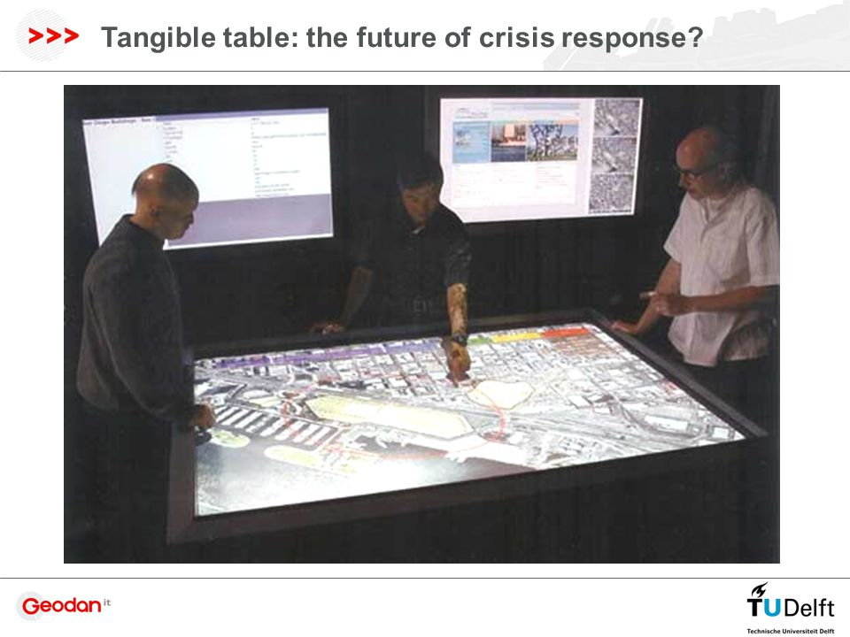 Tangible table: the future of crisis response?