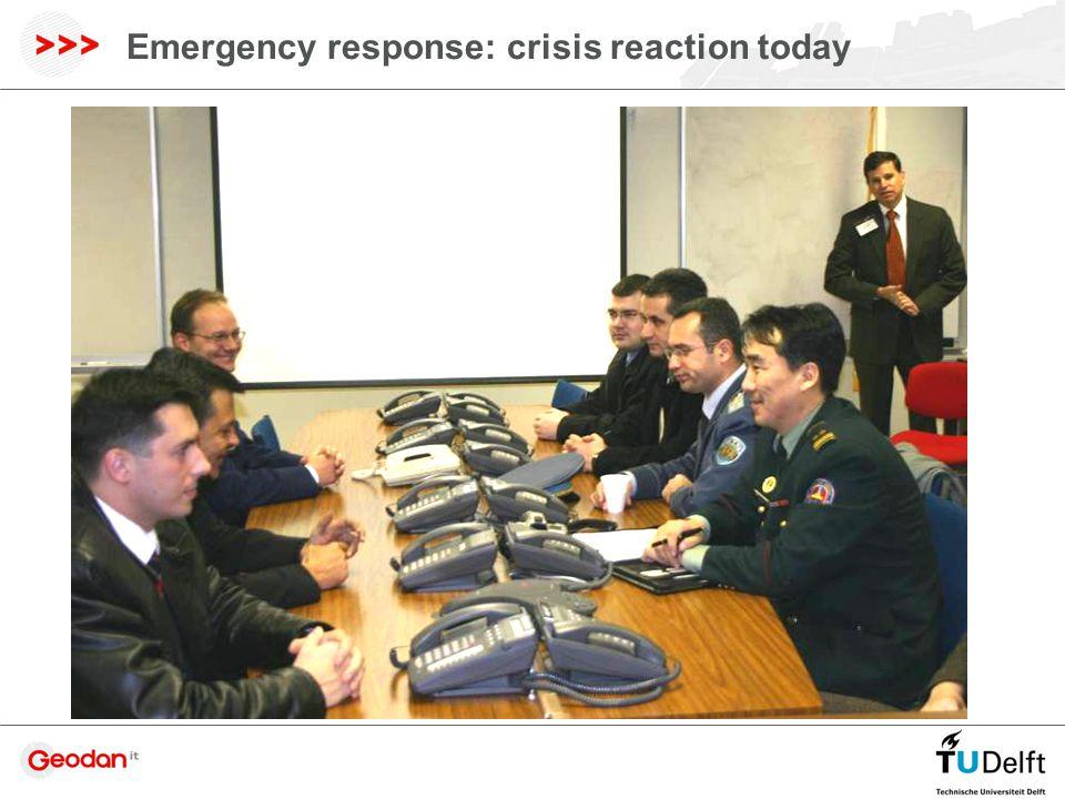 Emergency response: crisis reaction today