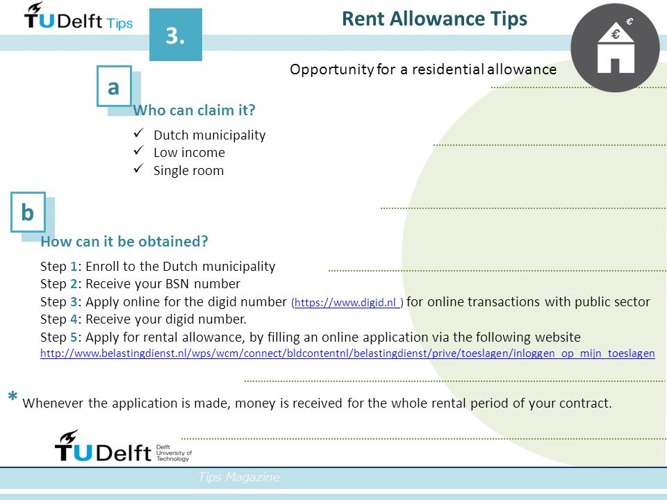 ab Tips Magazine Rent Allowance Tips 3. How can it be obtained.