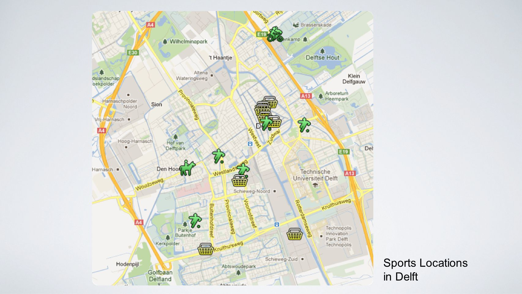 Sports Locations in Delft