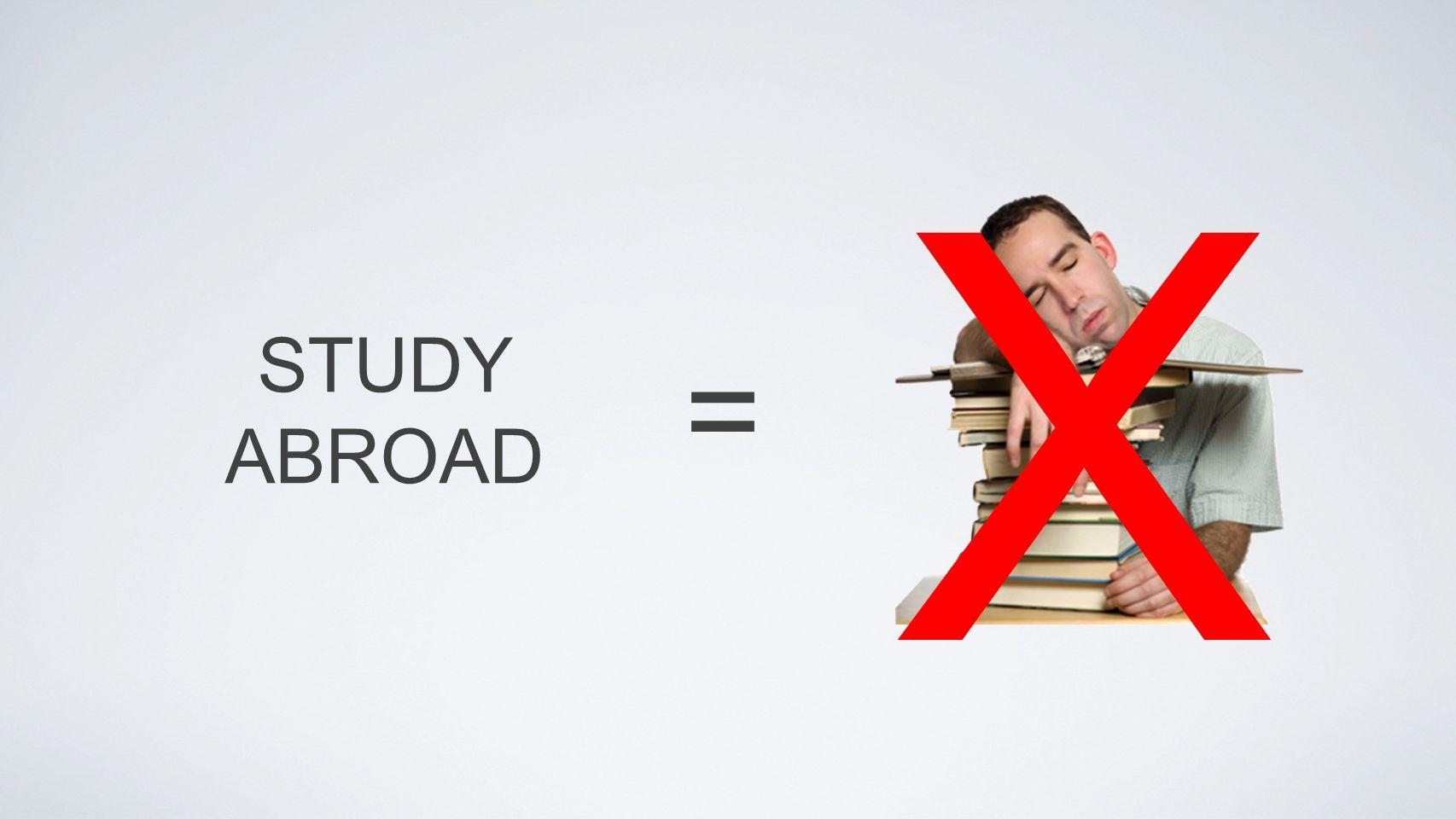 STUDY ABROAD = X