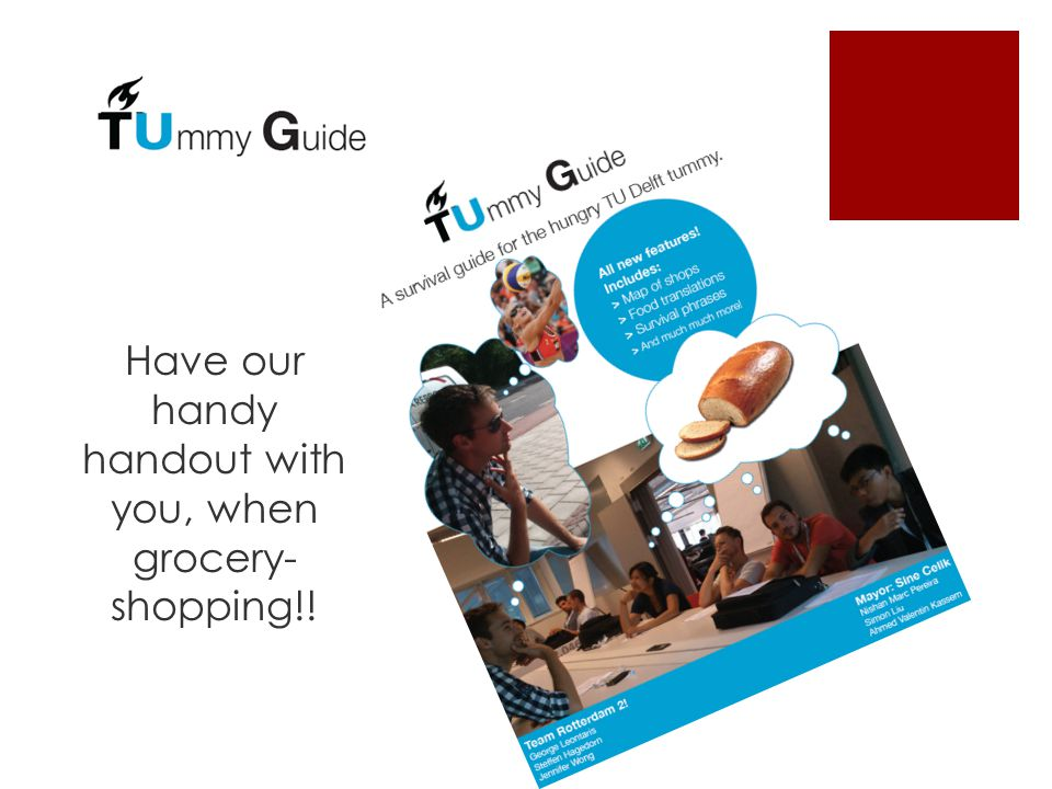 Have our handy handout with you, when grocery- shopping!!