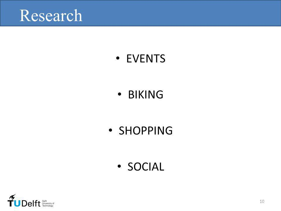 EVENTS BIKING SHOPPING SOCIAL Research 10