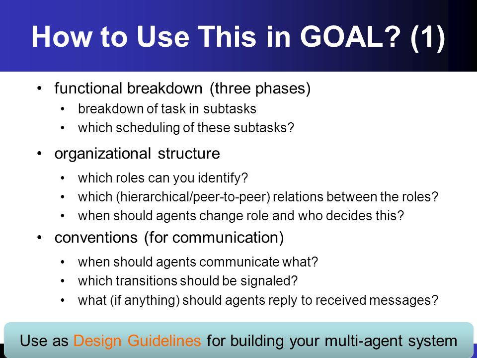 Koen Hindriks, Birna van Riemsdijk Multi-agent systemen Koen Hindriks, Birna van RiemsdijkMulti-agent systemen How to Use This in GOAL? (1) functional