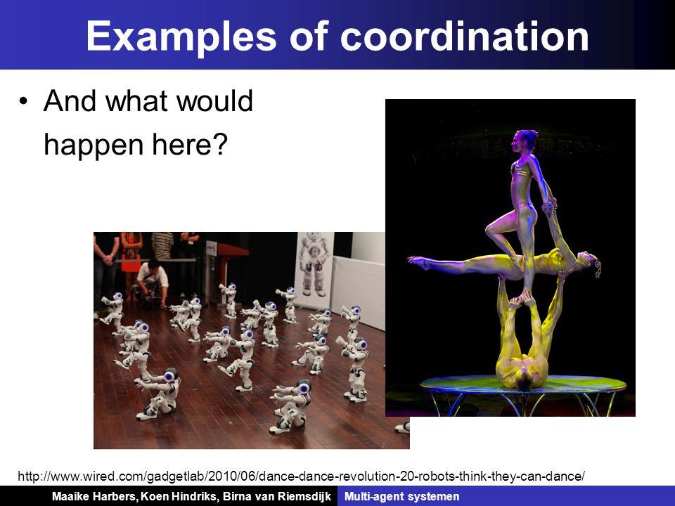 Koen Hindriks, Birna van Riemsdijk Multi-agent systemen Koen Hindriks, Birna van RiemsdijkMulti-agent systemen Examples of coordination http://www.wir