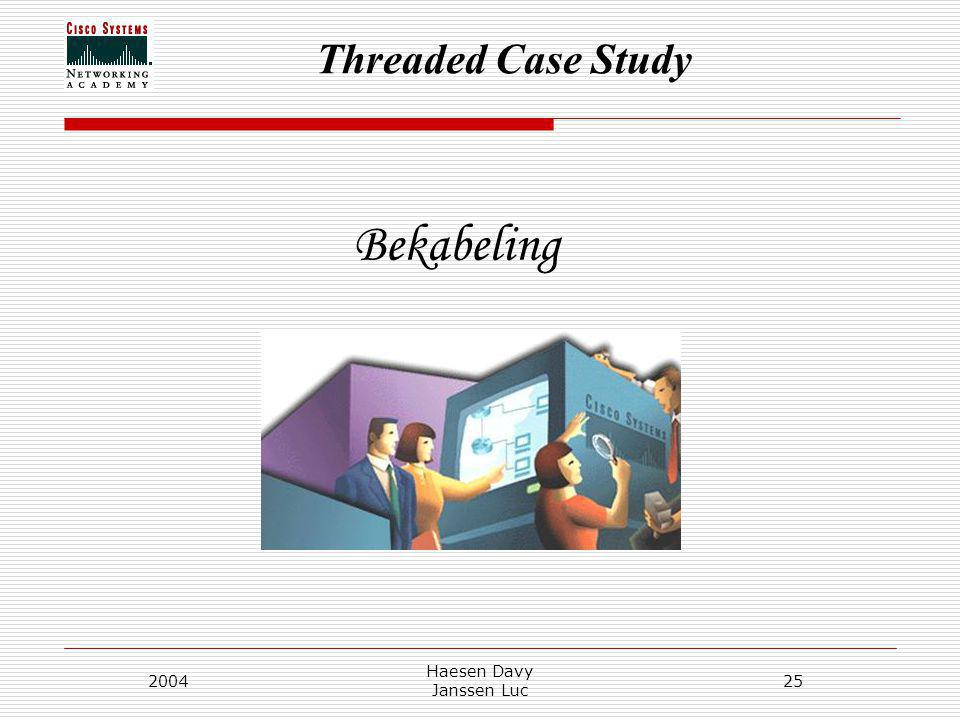Threaded Case Study 2004 Haesen Davy Janssen Luc 25 Bekabeling