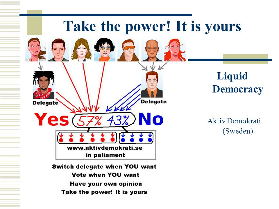 Take the power! It is yours Liquid Democracy Aktiv Demokrati (Sweden)