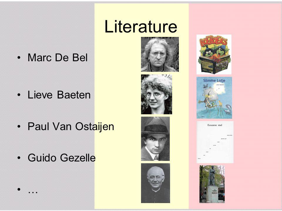 Literature Marc De Bel Lieve Baeten Paul Van Ostaijen Guido Gezelle …