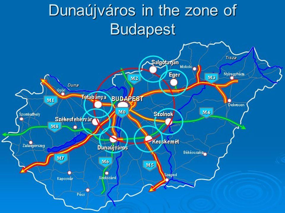 Dunaújváros in the zone of Budapest