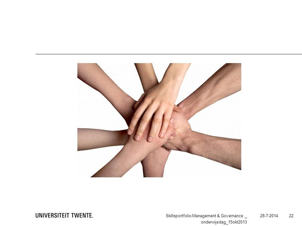 28-7-2014Skillsportfolio Management & Governance _ onderwijsdag_15okt2013 22