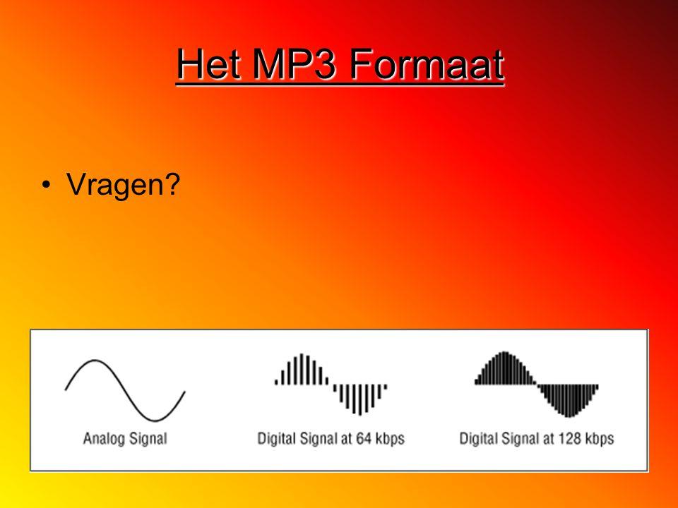 Het MP3 Formaat Vragen