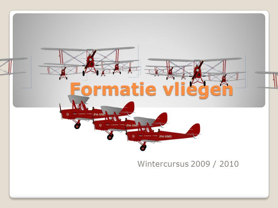 Formatie vliegen Wintercursus 2009 / 2010