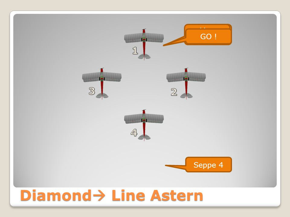 Vic Right  Line Astern  Diamond Diamond Seppe Formation Line Astern GO ! Seppe 4