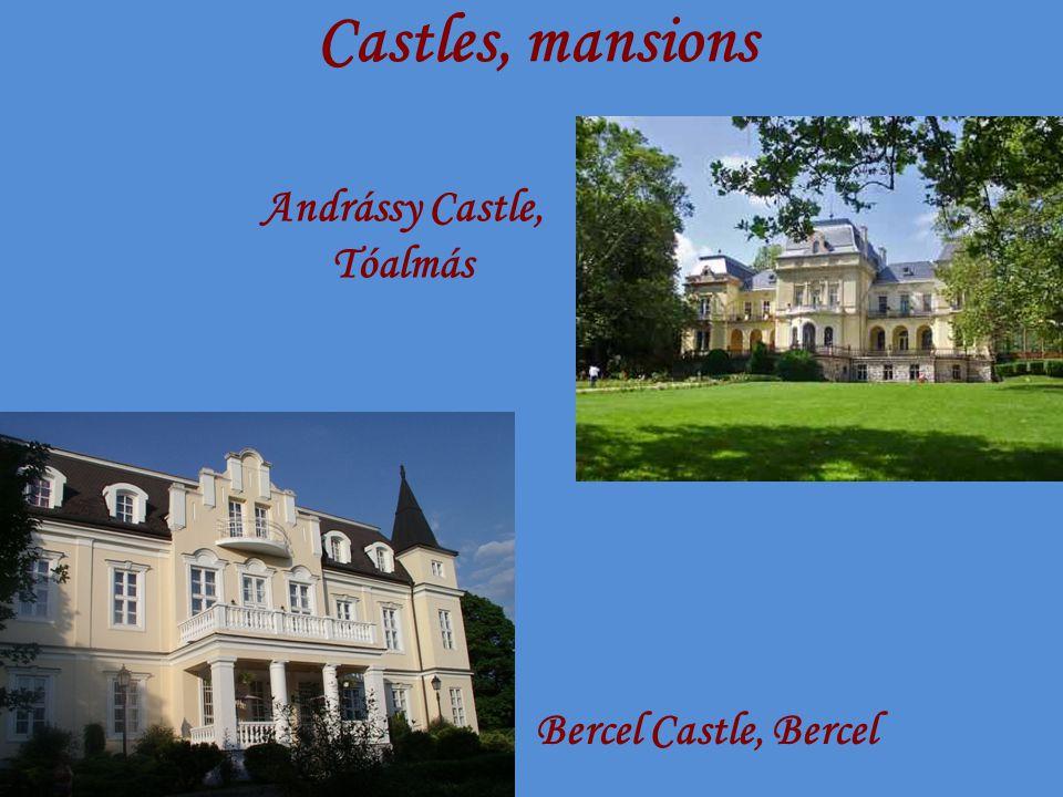 Castles, mansions Bercel Castle, Bercel Andrássy Castle, Tóalmás