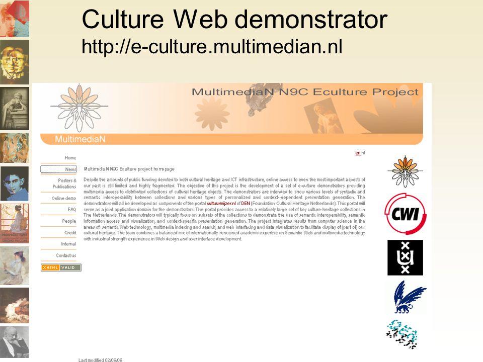Culture Web demonstrator http://e-culture.multimedian.nl
