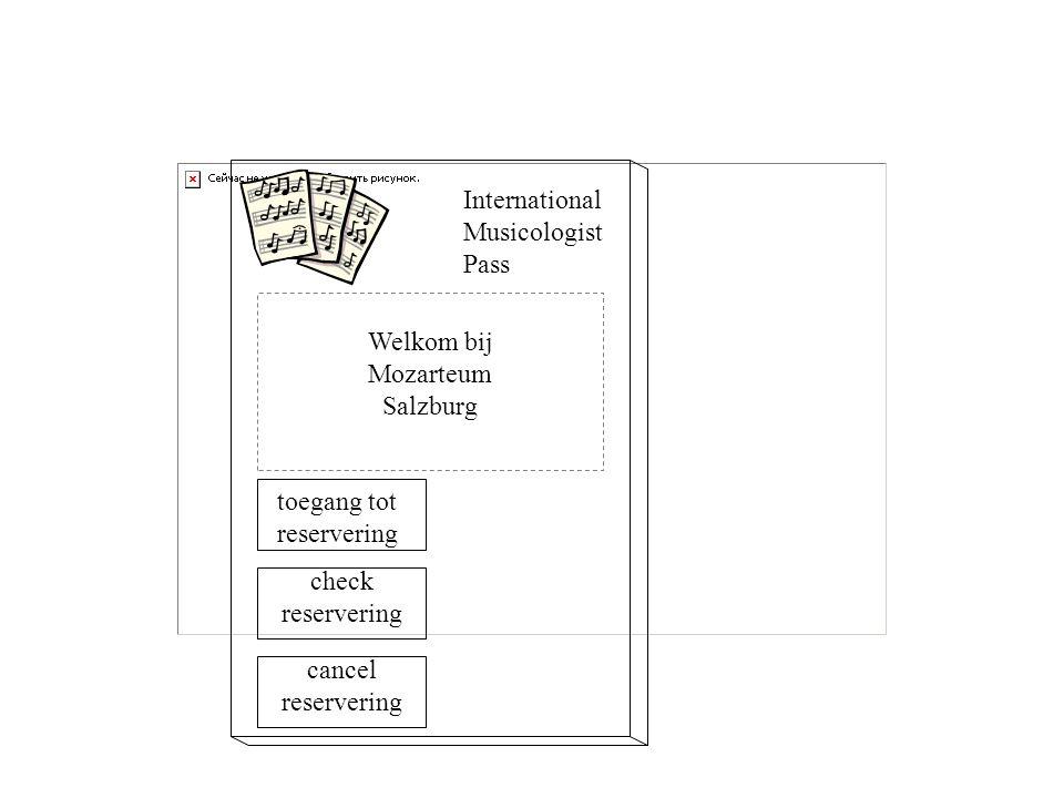Welkom bij Mozarteum Salzburg International Musicologist Pass toegang tot reservering check reservering cancel reservering