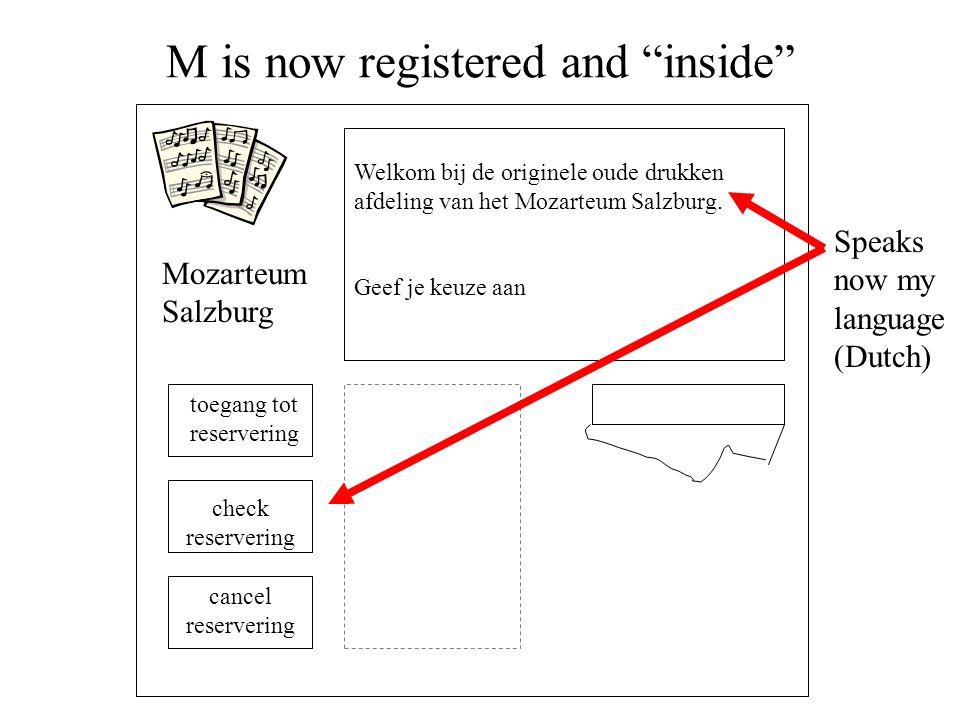 """M is now registered and """"inside"""" Welkom bij de originele oude drukken afdeling van het Mozarteum Salzburg. Geef je keuze aan Mozarteum Salzburg toegan"""