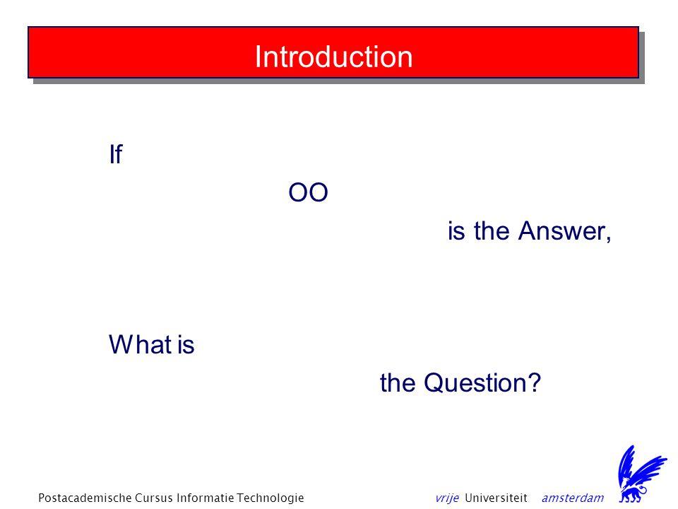 vrije Universiteit amsterdamPostacademische Cursus Informatie Technologie Reactor (event-handling) pattern