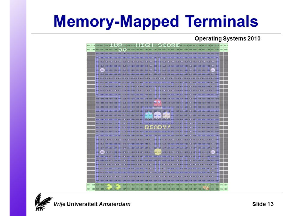 Memory-Mapped Terminals Operating Systems 2010 Vrije Universiteit AmsterdamSlide 13