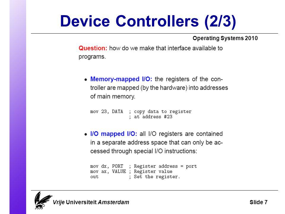 Avoiding Deadlock Operating Systems 2010 Vrije Universiteit AmsterdamSlide 28