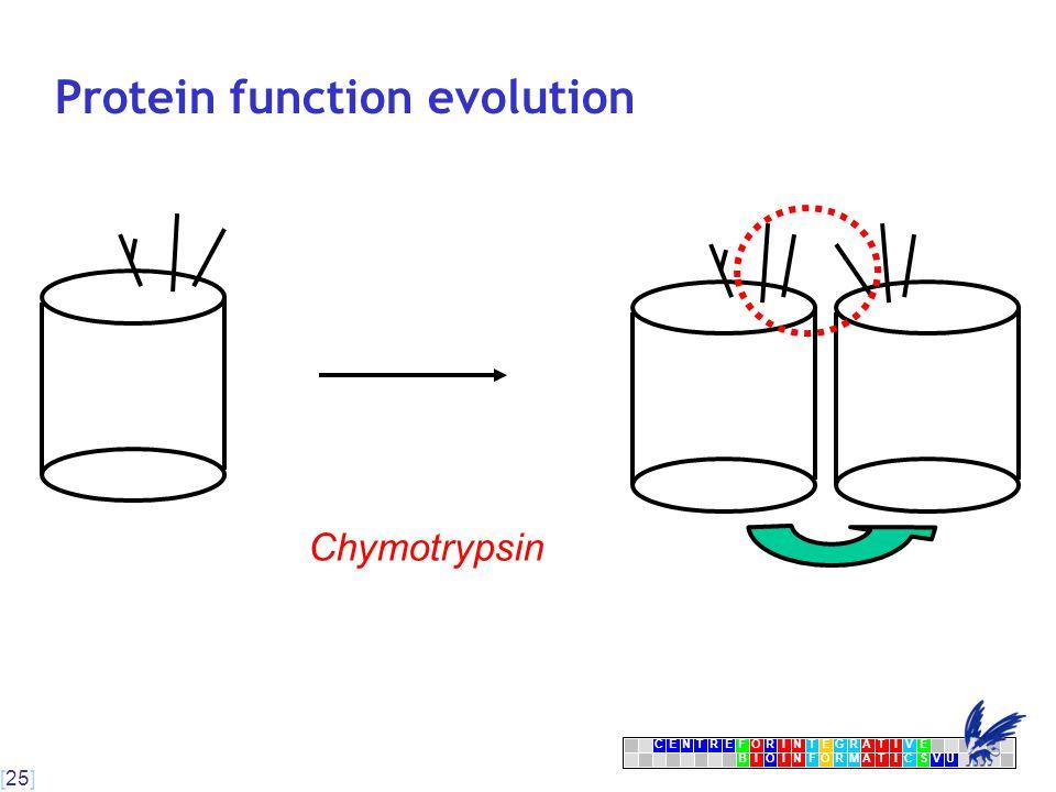 [25] CENTRFORINTEGRATIVE BIOINFORMATICSVU E Protein function evolution Chymotrypsin