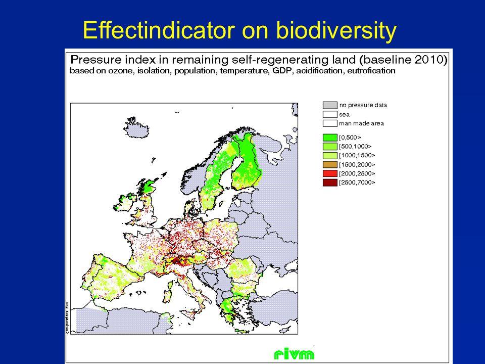 Effectindicator on biodiversity