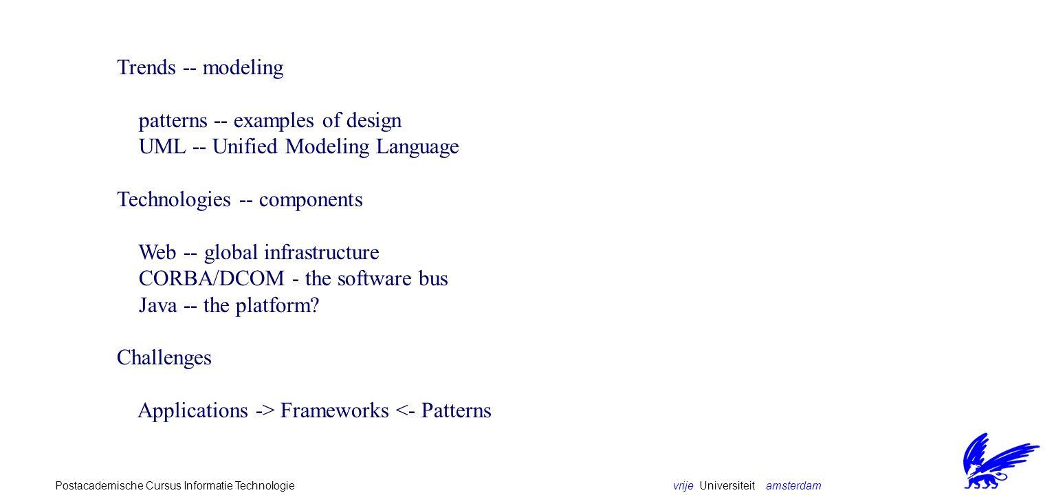 vrije Universiteit amsterdamPostacademische Cursus Informatie Technologie Beyond Object-Orientation?