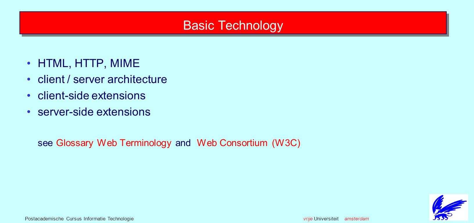 vrije Universiteit amsterdamPostacademische Cursus Informatie Technologie Case Studies Navigation Structures in Tutorials Hypermedia Support for Software Engineering