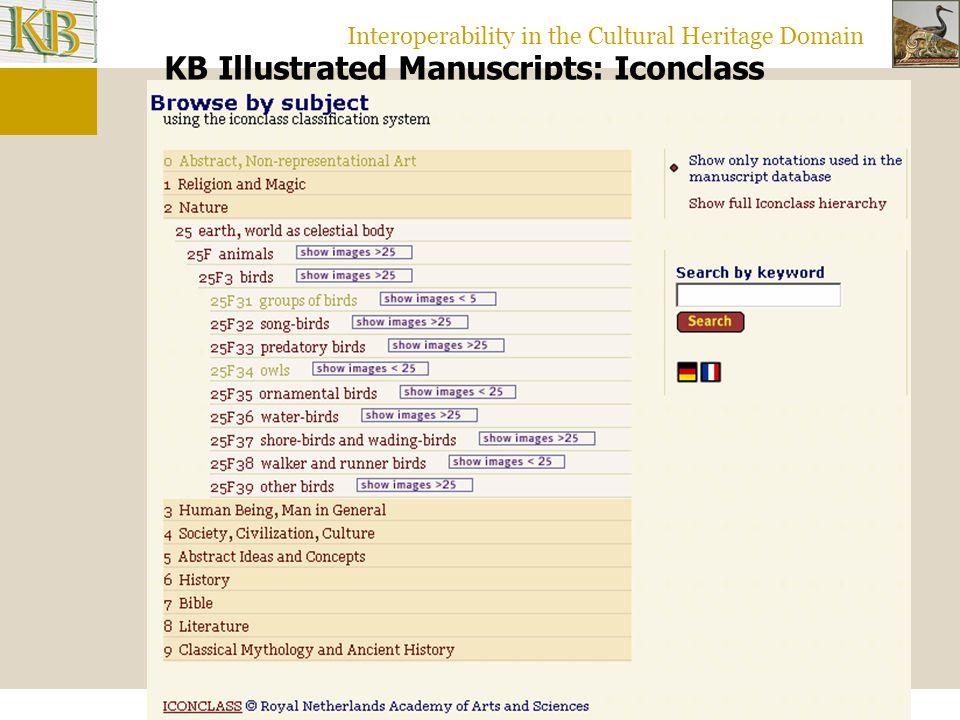 Interoperability in the Cultural Heritage Domain Mandragore