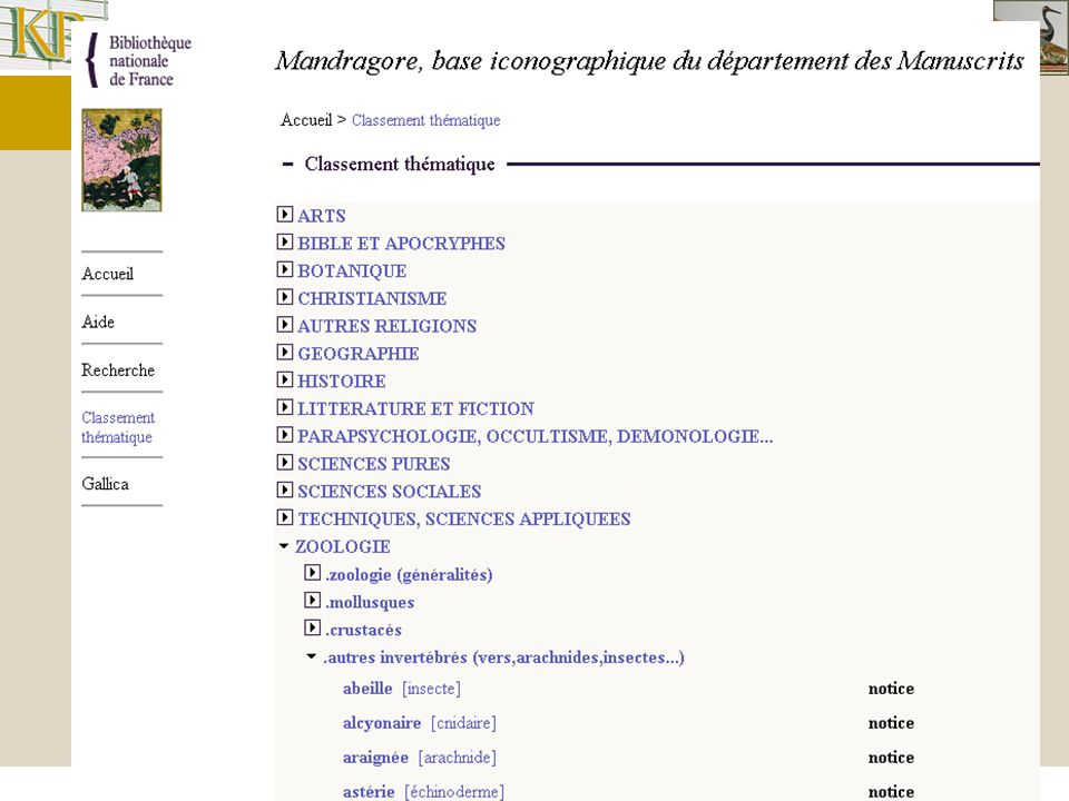 Interoperability in the Cultural Heritage Domain Faceted browsing Access the collection, using structure of the vocabularies Different dimensions: subject, author,..