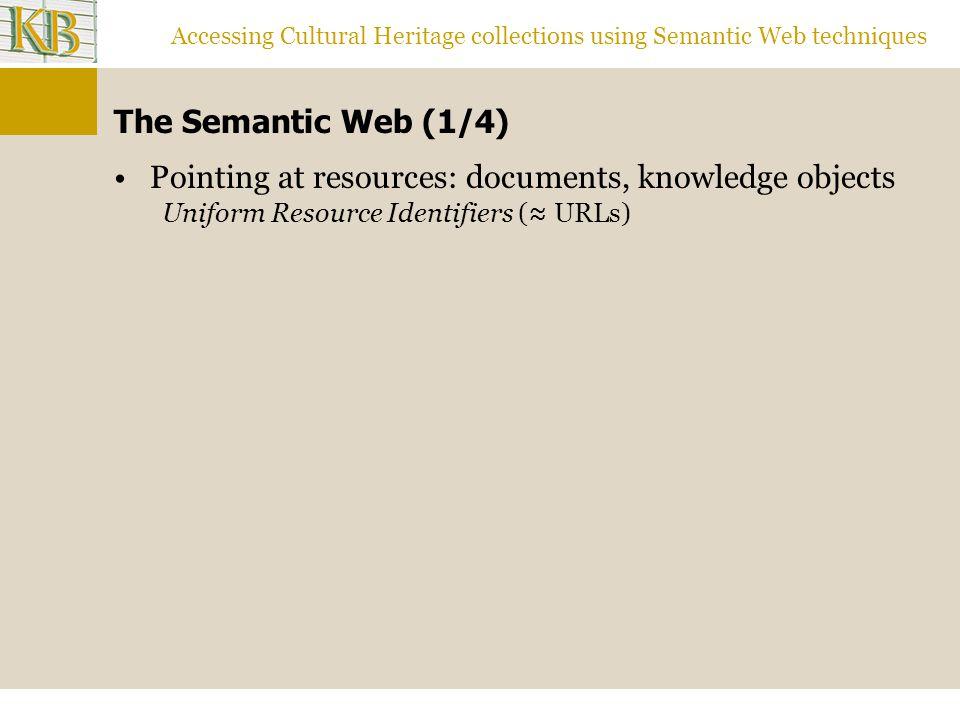 Accessing Cultural Heritage collections using Semantic Web techniques Results 1: 9132.9 (1704 3479 976) Schilderijen - schilderkunst 2: 8088.5 (1204 2330 767) Kwaliteitszorg - kwaliteitsmanagement 3: 6232.7 (820 1572 543) Personeelsmanagement - personeelsbeleid 4: 5392.1 (1399 3271 622) Beeldende kunsten - beeldende kunst 5: 5063.1 (4951 1152 613) Nederlands - Nederlandse taalkunde 17: 3421.8 (280 714 243) Diabetes mellitus - suikerziekte