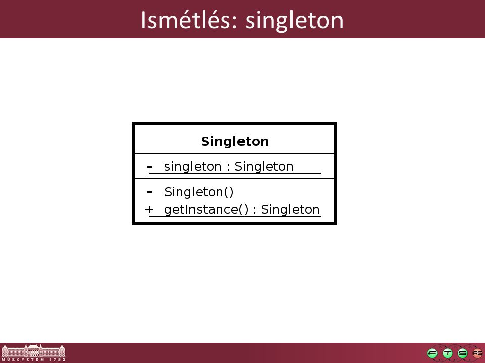 Ismétlés: singleton