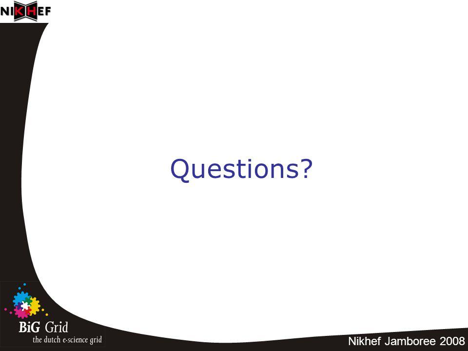 Nikhef Jamboree 2008 Questions?
