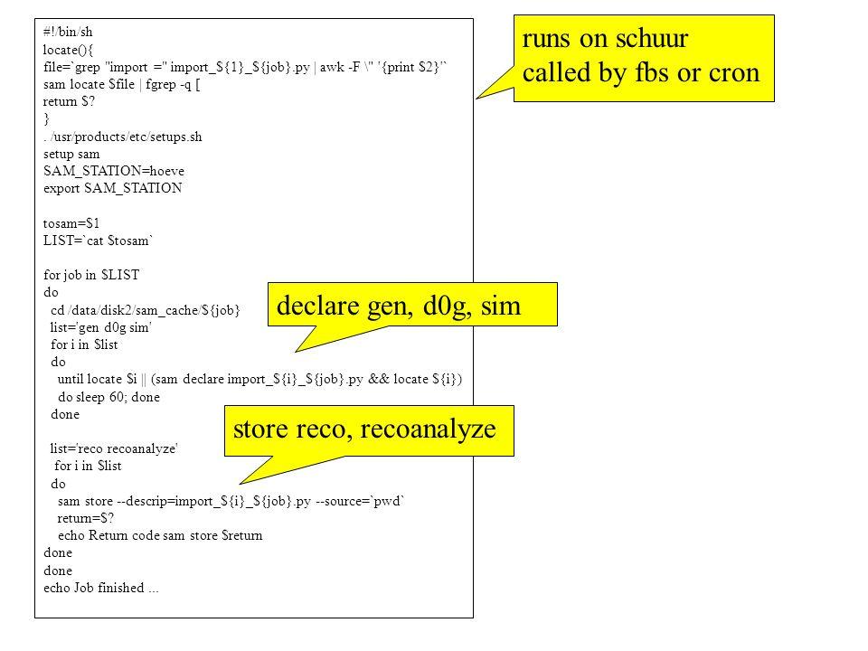 #!/bin/sh locate(){ file=`grep import = import_${1}_${job}.py | awk -F \ {print $2} ` sam locate $file | fgrep -q [ return $.