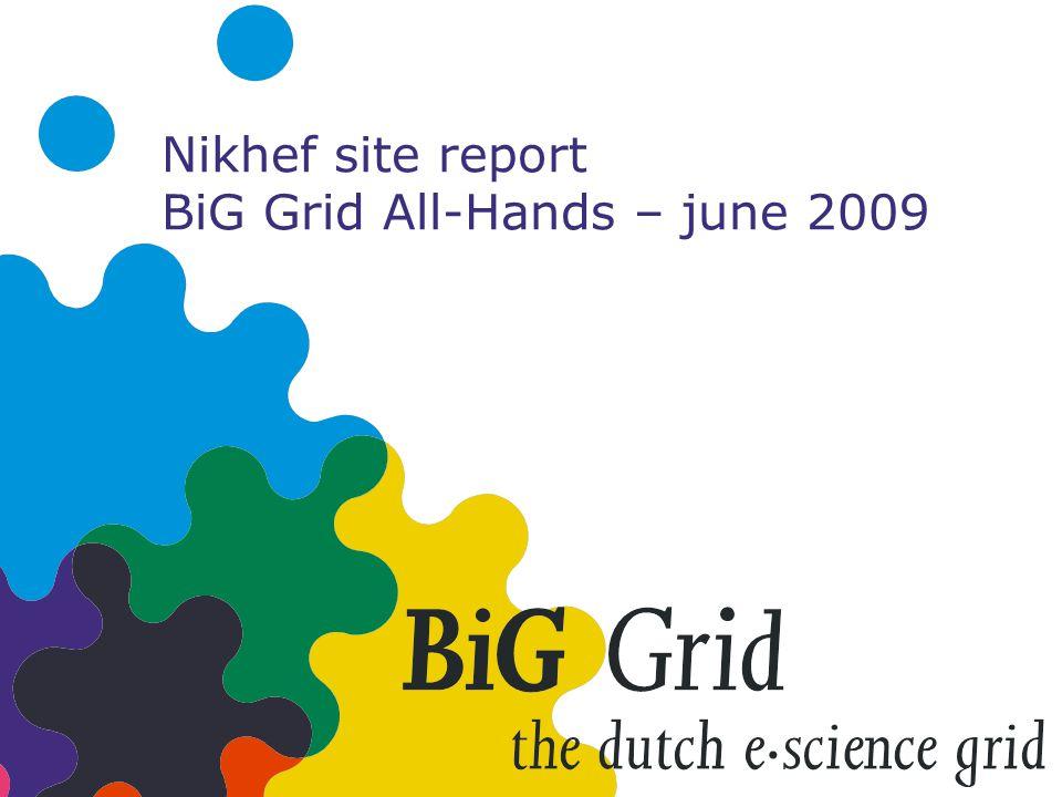 Nikhef site report BiG Grid All-Hands – june 2009