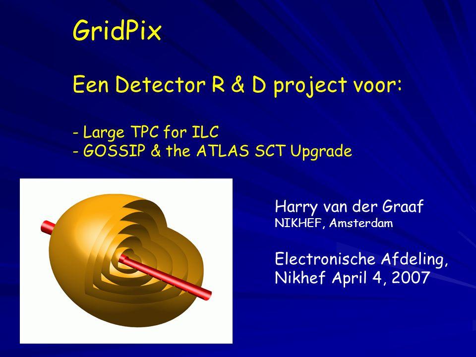 GridPix Een Detector R & D project voor: - Large TPC for ILC - GOSSIP & the ATLAS SCT Upgrade Harry van der Graaf NIKHEF, Amsterdam Electronische Afde