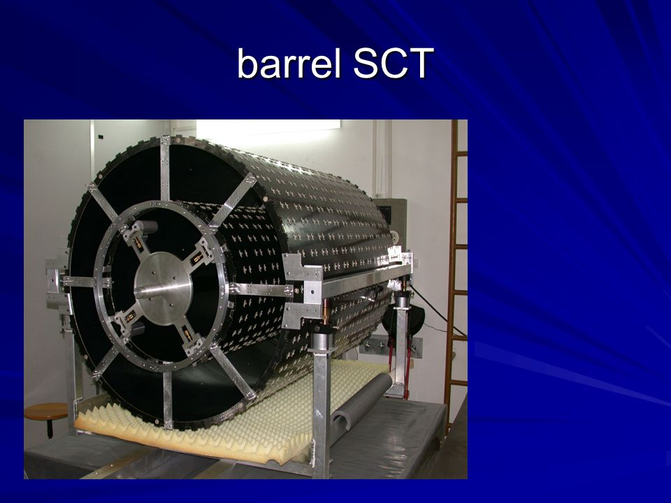 barrel SCT Two of the SCT barrel support structures