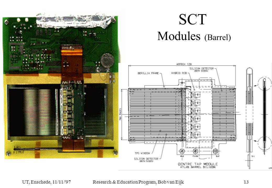 UT, Enschede, 11/11/ 97Research & Education Program, Bob van Eijk13 SCT Modules (Barrel)