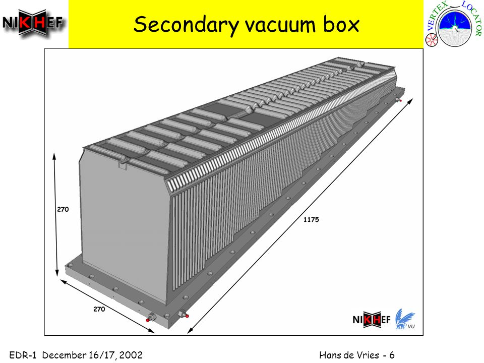 EDR-1 December 16/17, 2002 Hans de Vries - 6 Secondary vacuum box