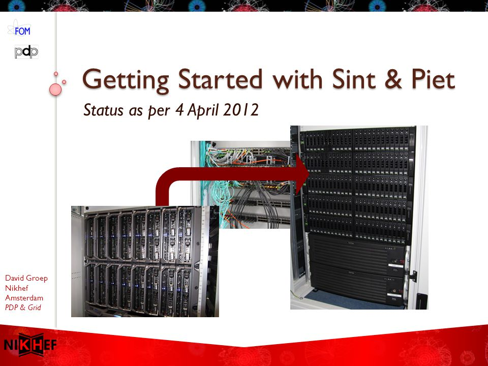 David Groep Nikhef Amsterdam PDP & Grid Getting Started with Sint & Piet Status as per 4 April 2012