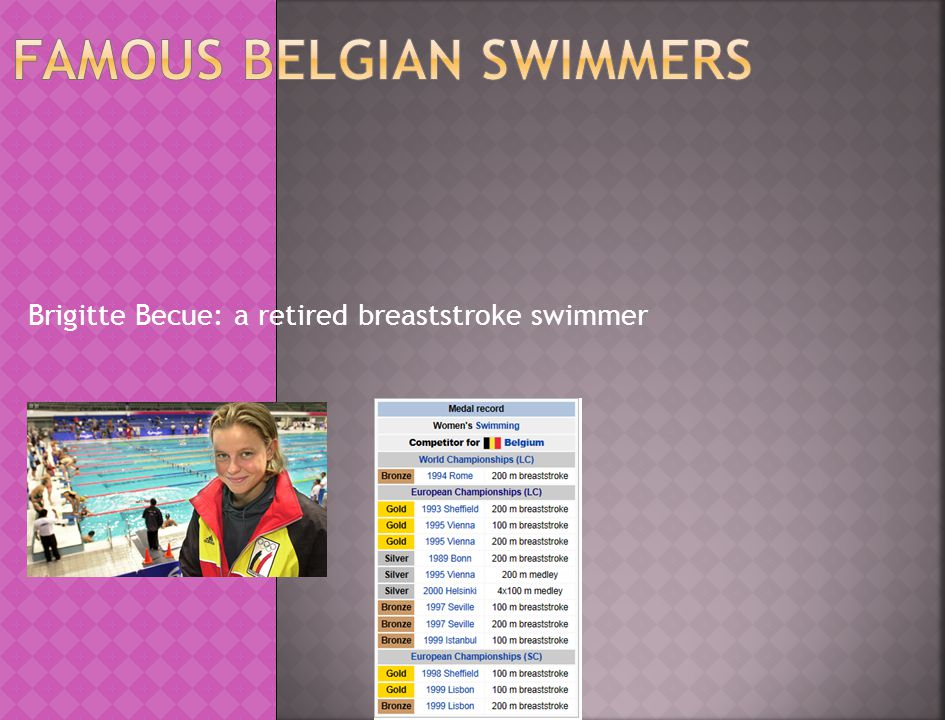 Frédérik Deburghgraeve: former Belgian swimmer won the gold medal in the 100 m breaststroke set a world record during the 1996 Olympic Games in Atlanta