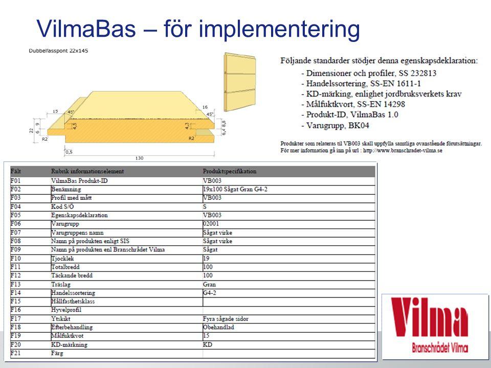 VilmaBas – för implementering