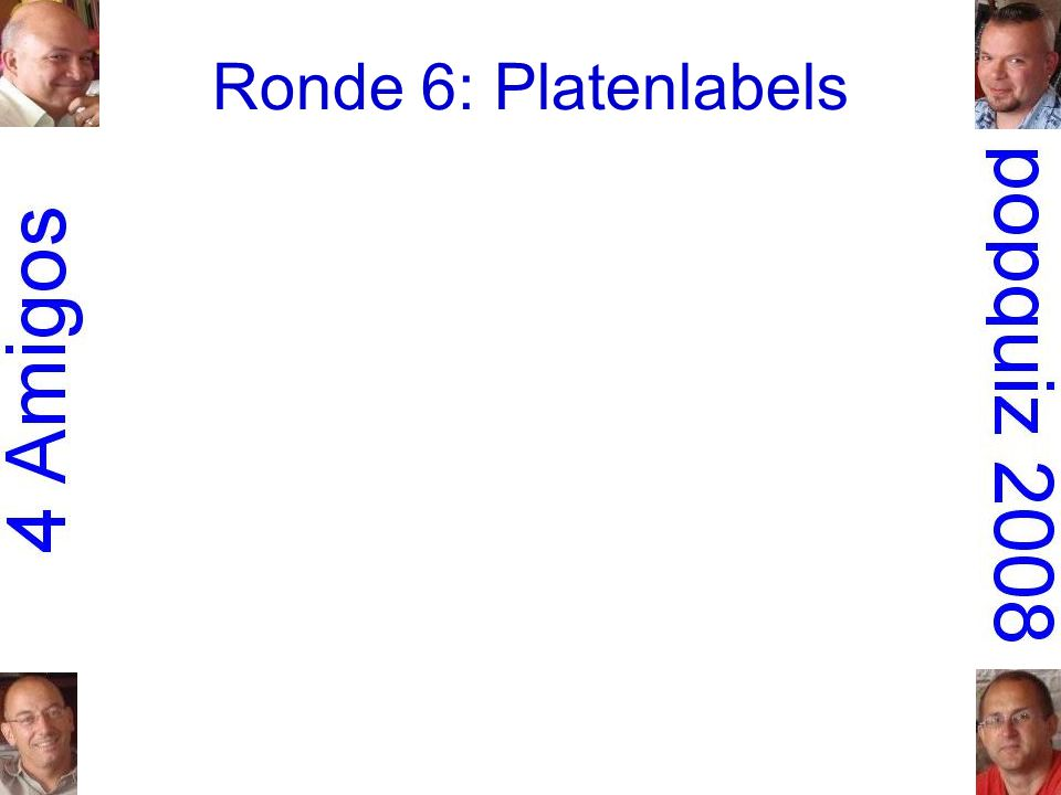Ronde 6: Platenlabels