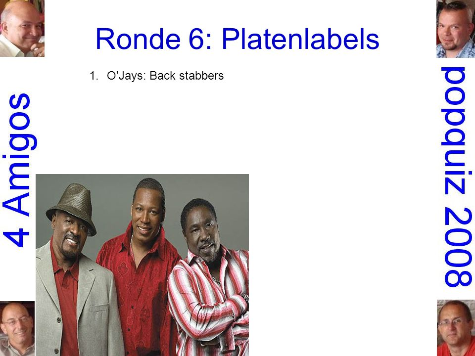 1.O Jays: Back stabbers