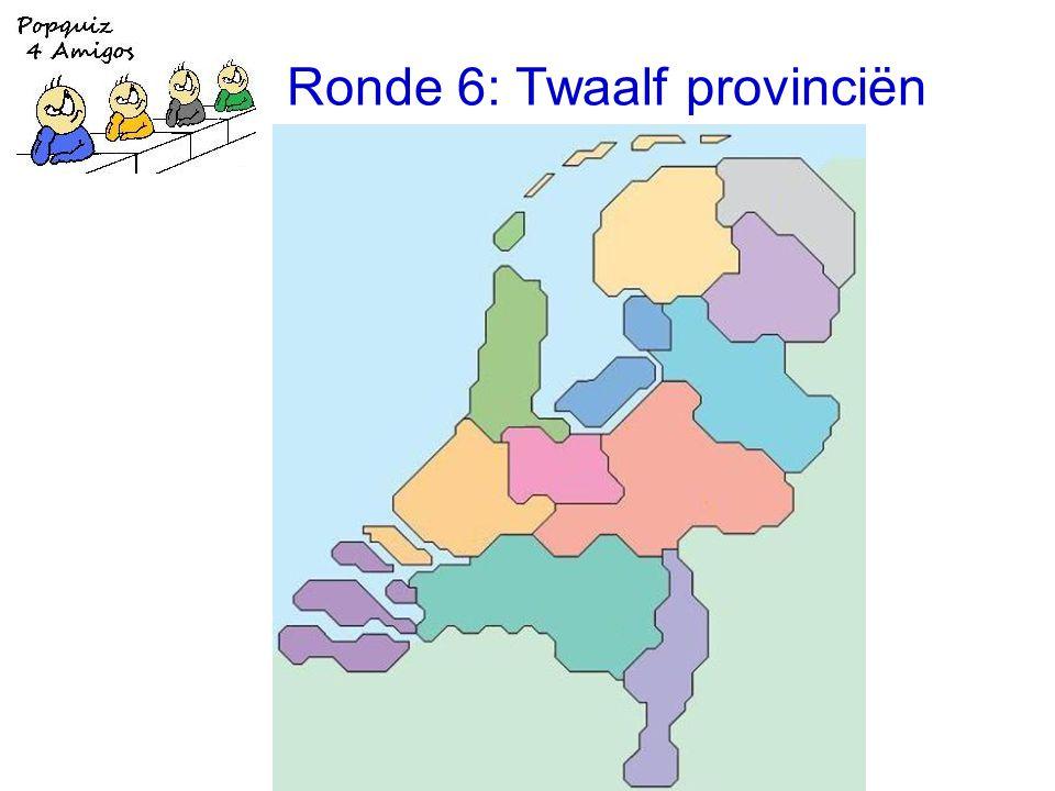 Ronde 6: Twaalf provinciën