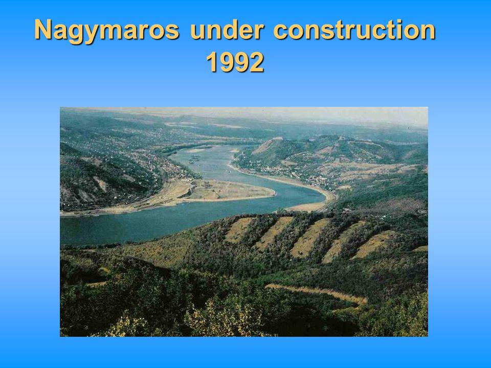 Nagymaros under construction 1992