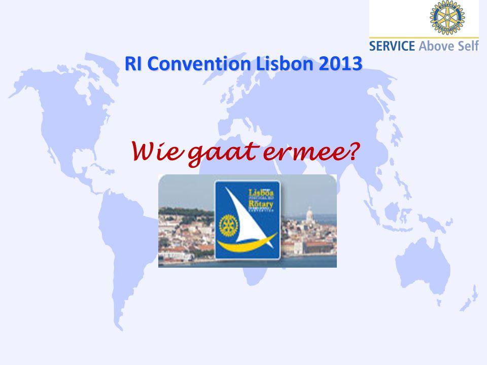 RI Convention Lisbon 2013 Wie gaat ermee?